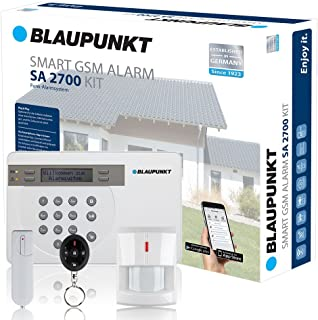 Blaupunkt - SA 2700 - Kit alarma de seguridad. transmision via GSM 100- analambrica- App Gratuita Connect2Home.